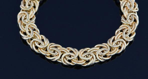 14K Yellow Gold Double Link Bracelet, Italy, Circa 1965