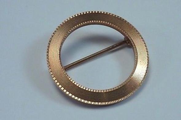 """14K Yellow Gold """"Circle of Life"""" Brooch/Pin"""