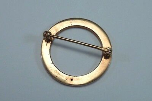 "14K Yellow Gold ""Circle of Life"" Brooch/Pin"