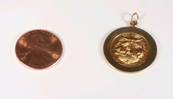 "4.1 Gram 14K Yellow Gold ""Baptismal"" Charm/Pendant"