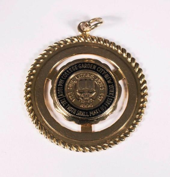 14k Yellow Gold Adelphi College New York Charm or Pendant