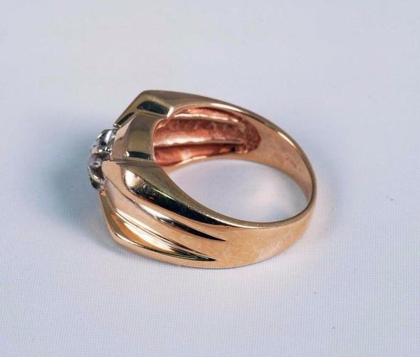 Bold Design 14K Yellow Gold Men's 1/2 ct. tw. Diamond Ring, Size 10