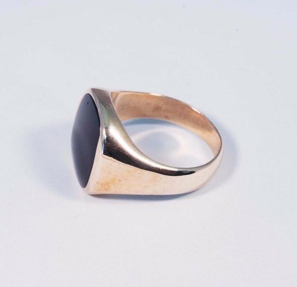 10K Yellow Gold Men's Onyx Ring, Size 11.25