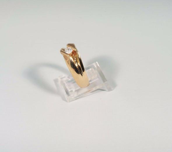 10K Yellow Gold Men's 3/8 ct. Diamond Ring, Size 10
