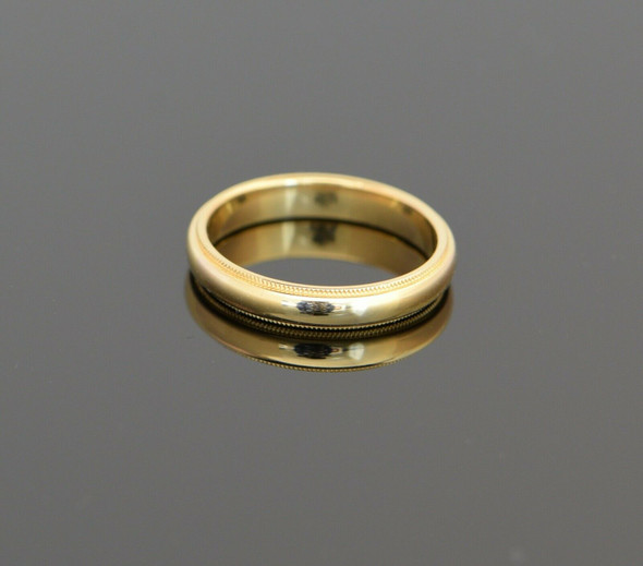 18K Yellow Gold Men's Tiffany & Co. Wedding Band, Size 10.25