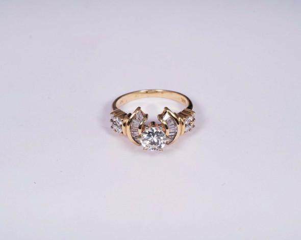 14K Yellow Gold Diamond Engagement Ring app. 1.5ct. tw. , size 6.5