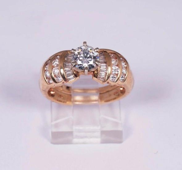 14K Yellow Gold Engagement/Wedding Set 1.5ct. tw., Size 6.75