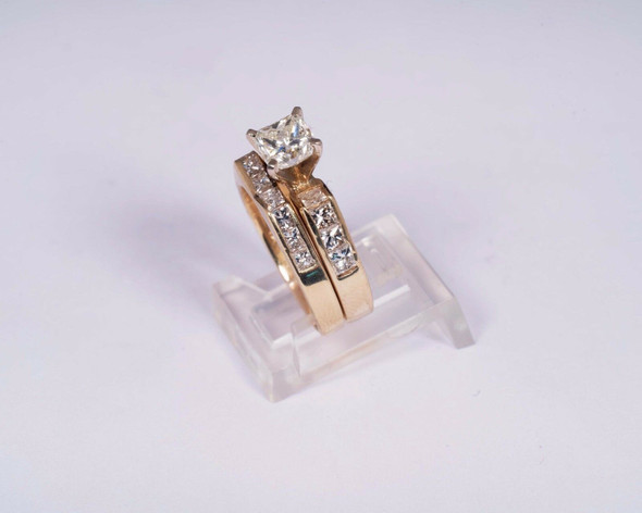 14K Yellow Gold Engagement Set with 2.5 ct. tw., Size 5.75