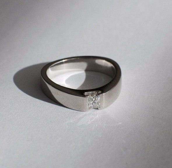 Platinum Georg Jensen engagement ring, estimate 1/3 ct., size 6