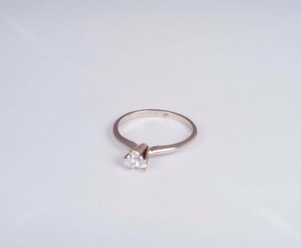 14K White Gold app. .40 ct. tw. Heart Shaped Diamond Engagement Ring, size 6.75