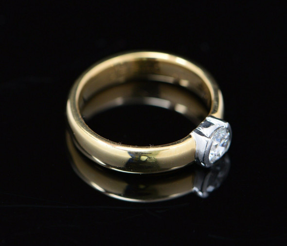18K Yellow Gold Tiffany & Co. Diamond Solitaire Engagement Ring, Size 5.5