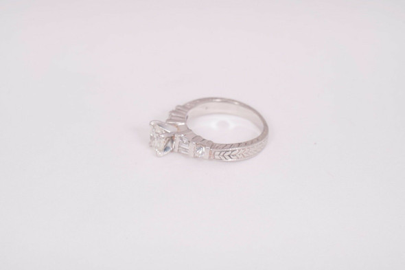 Platinum Diamond Engagement Ring app. .80ct. tw. , size 5.75