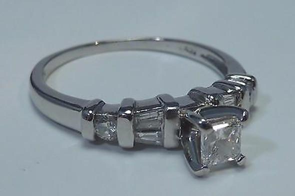 4.3 Gram Platinum 1/2 ct. tw. Engagement Ring size 7