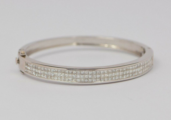 14k White Gold Diamond Bracelet, High Quality