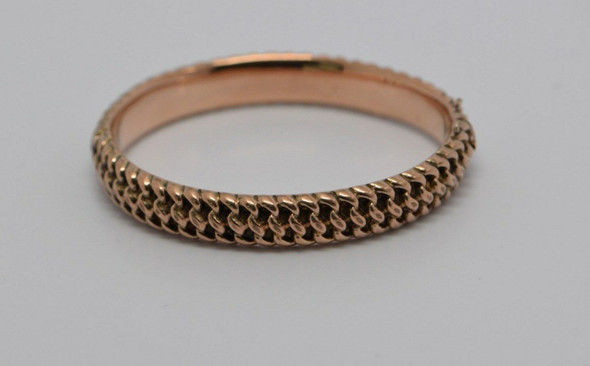 10K Rose Gold Vintage hinged bangle bracelet