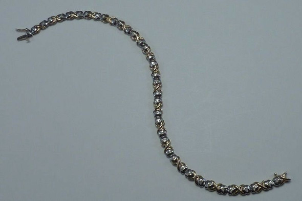10K Yellow Gold app. 1 ct. tw. Diamond Bracelet, 8 inch