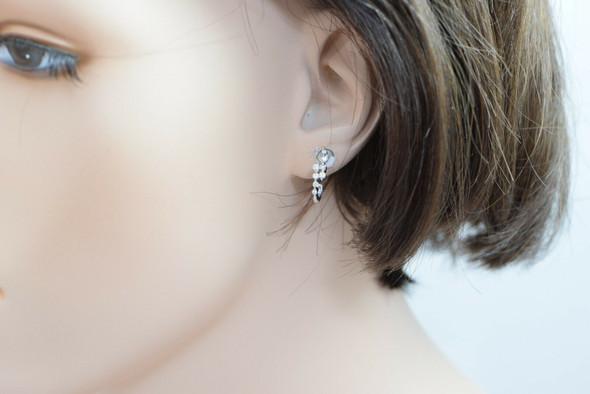 18K white Gold Diamond Post Earrings, 1/2 ct.tw.