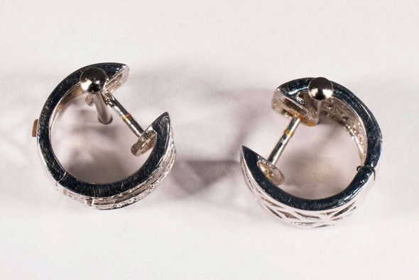 18K White Gold Diamond Earrings app. 1 ct. tw.