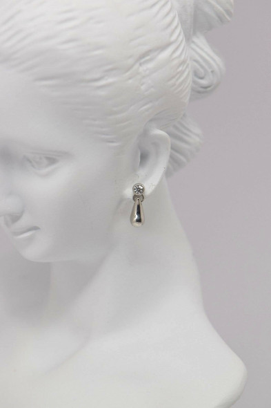 "Tiffany & Co. 950 Platinum ""Beans"" and Diamond Earrings"
