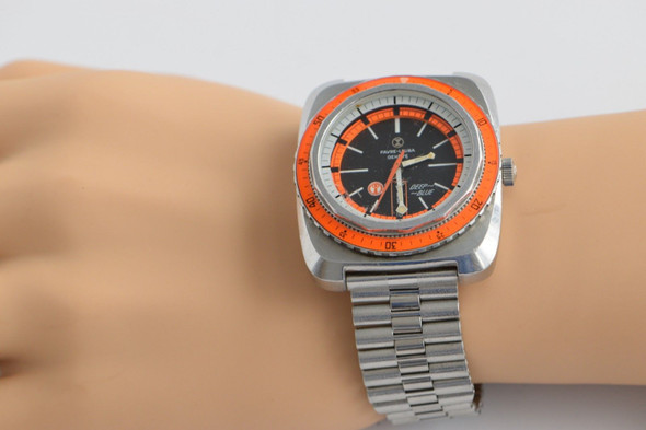 Favre Leuba Superb Deep Blue Dive Watch, 1970's