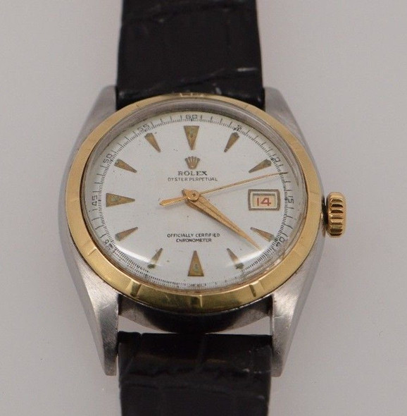 Men's Vintage Gold Capped Rolex Oyster Perpetual Watch w/Certified Chronometer