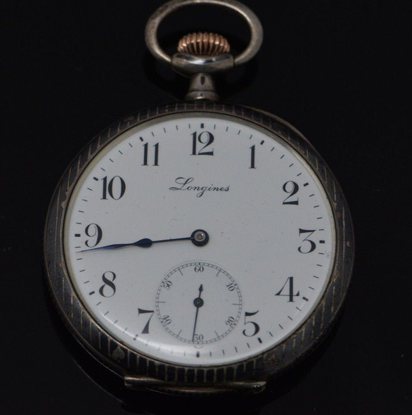 Lucky Card Player's Longines Silver Pocket Watch