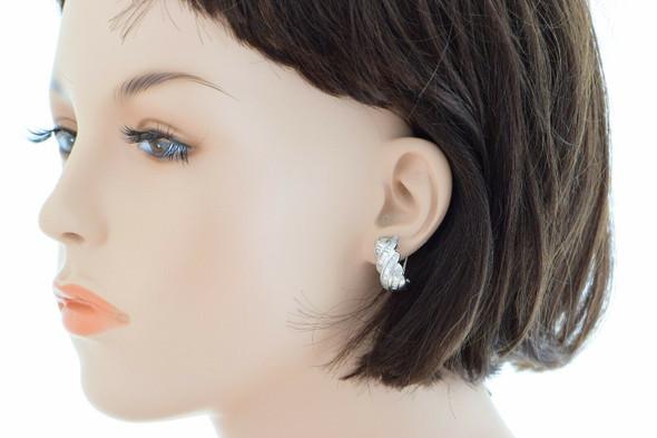 18K White Gold 3 ct. tw. Diamond Baguette Earrings