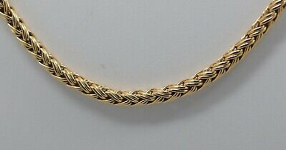 "14K Yellow Gold Spiga-Wheat Necklace, 20"" in length"