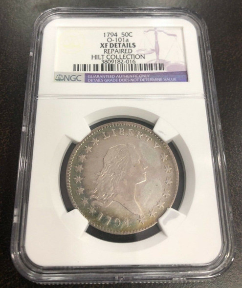1794 Flowing Hair Half Dollar NGC XF Details