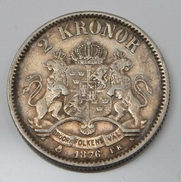 1876 Sweden 2 Kroner