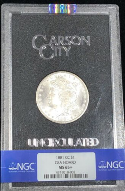 1881-CC (Carson City) GSA Morgan Dollar NGC MS 65+