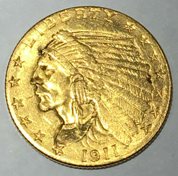 1911 Indian Gold Quarter Eagle $2.50 Coin