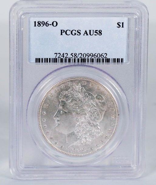 1896-O Morgan Silver Dollar PCGS AU-58
