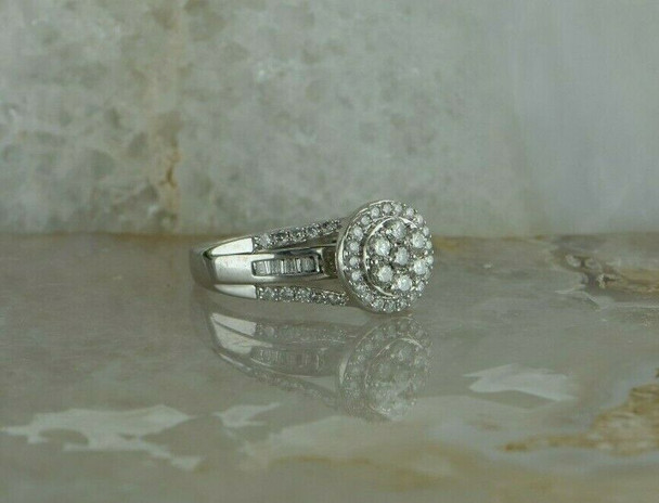 10K White Gold 1ct + Kay Jewelers Diamond Rondel Ring Size 7+