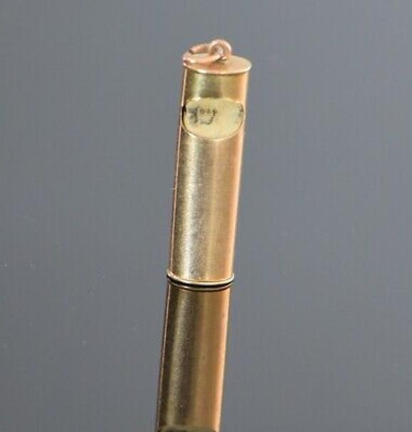 10K Yellow Gold Mezuzah Pendant with Scroll, Circa 1940-50