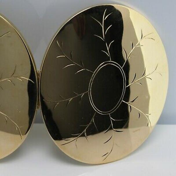Edwardian 18K Yellow Gold Oversize Oval Locket Circa 1900