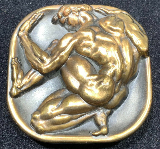 """1985 Society of Medalist No. 111th Issue """"Man in Box"""" by Donald De Lue Bronze"""