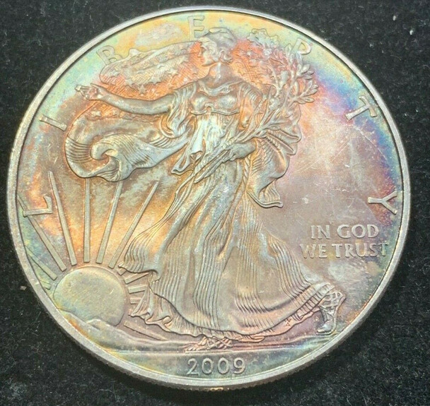 2009 American Silver Eagle Toned, Coin no.2