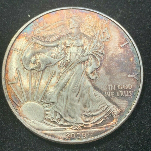 2009 American Silver Eagle Toned Coin no.1