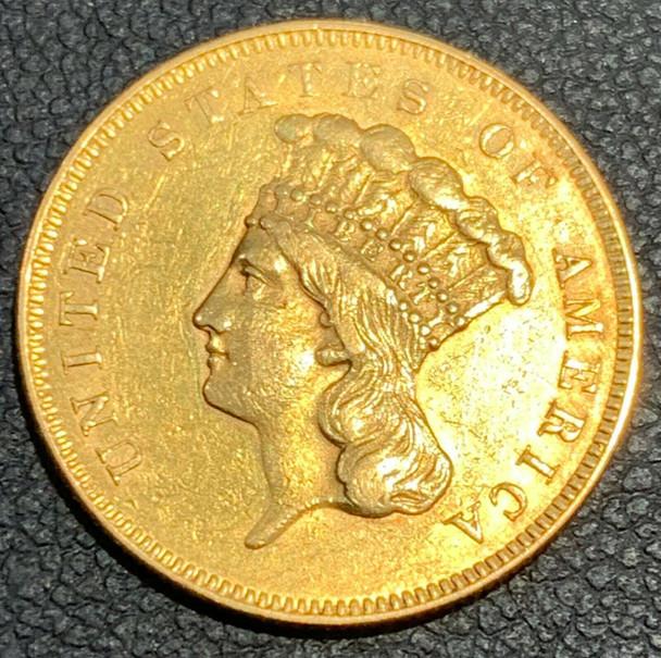1855 Indian Princess Head $3 Gold Coin