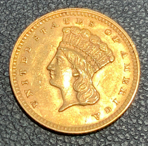 1862 United States Indian Princess, Large Head $1 Gold Type III