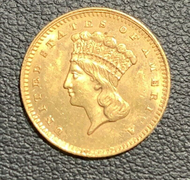 1862 Indian Princess, Large Head, United States $1 Gold Type III