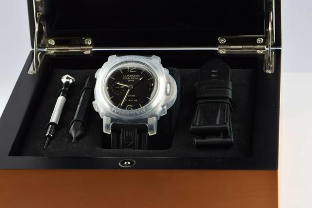 Luminor GMT Panerai 8 Day Stainless Steel, 21 Jewel 3 Barrel Manual Wind Watch