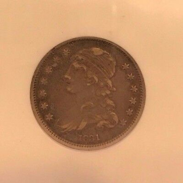1831 Capped Bust Quarter Small Letters Extra Fine