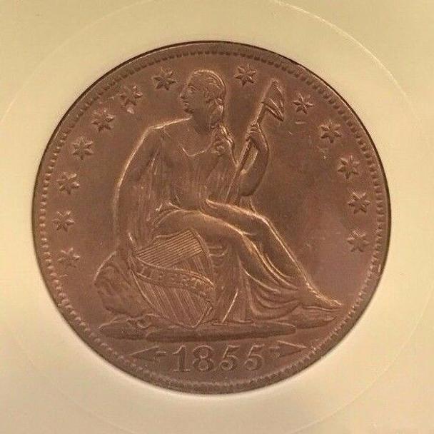 1855-O Seated Liberty Half Dollar with Arrows
