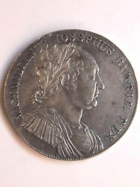 1818 German States Bavaria SilverThaler