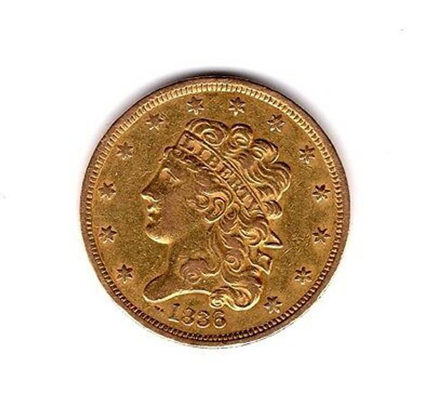 1836 $5.00 Classic Head Gold