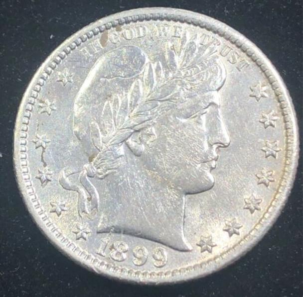 1899 Philadelphia Mint Silver Barber Quarter