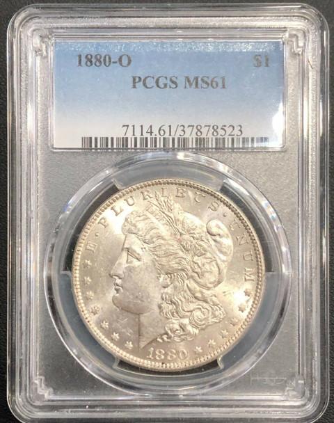 1880-O Morgan Silver Dollar PCGS MS 61