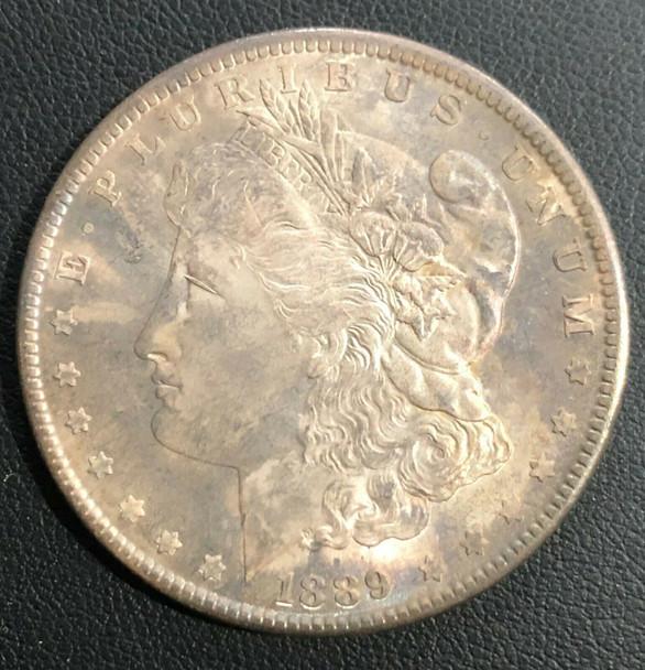 1889 Morgan Silver Dollar Toned